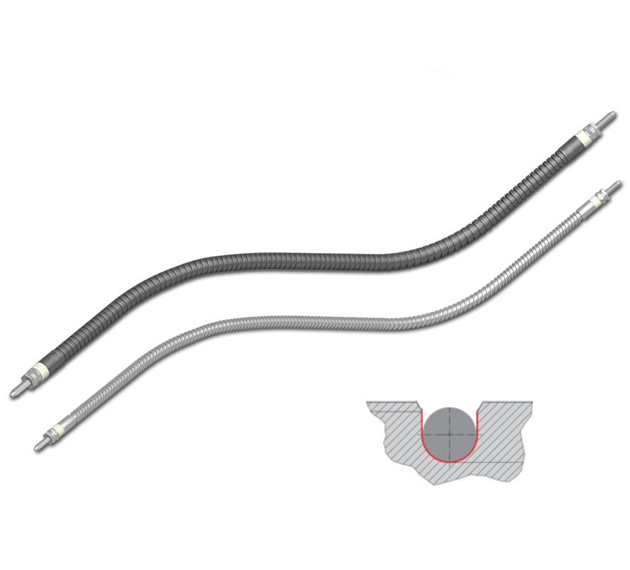 hotflex®/ hotflex® cs ohebné topné tyče s kruhovým průřezem