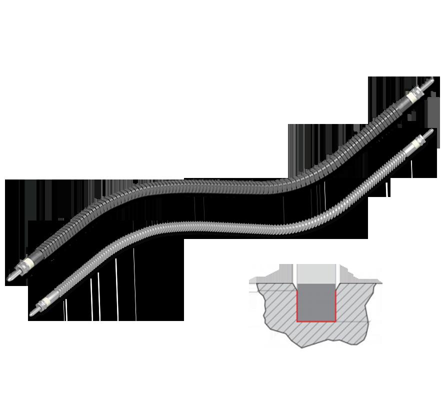 hotflex®/ hotflex® cs ohebné topné tyče se čtvercovým průřezem